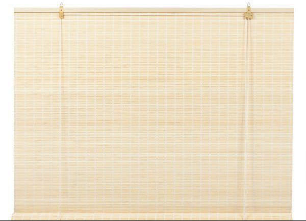 Multi Color Natural Bamboo Roll Up Window Blind Sophisticated Technology