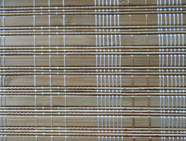 Printed Outdoor Bamboo Window Blinds Fumigation Certification For Stream Room