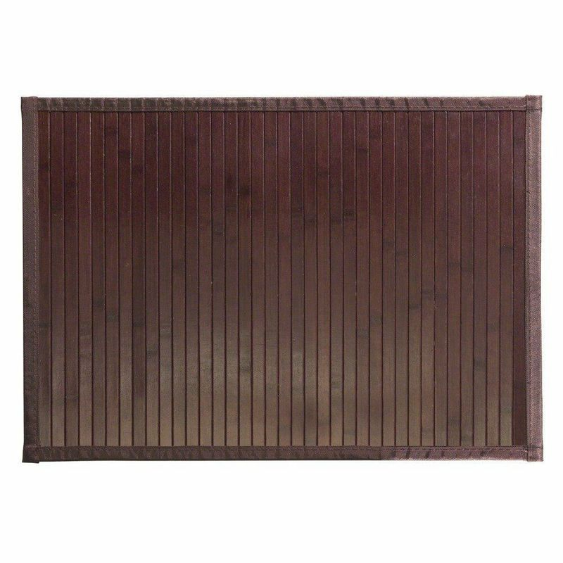Popular Table Bamboo Schach Mat , Bamboo Bathroom Mat Customized Design
