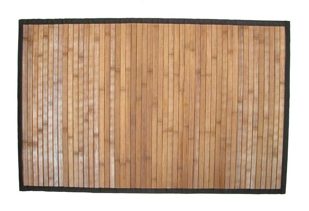 Mould Proof Bamboo Bathroom Mat Without Chemical Treatment Natural Grain